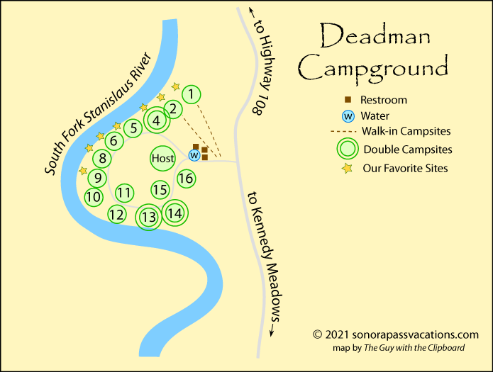 map of Deadman Campground, California