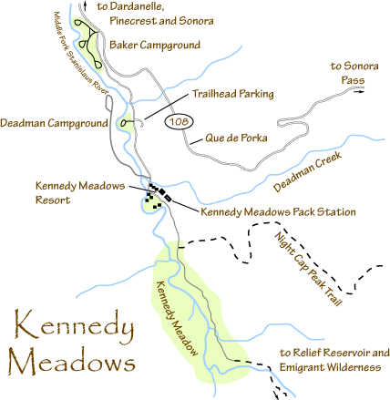 map of Kennedy Meadows