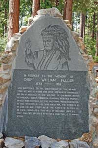 photo of Chief Fuller monument