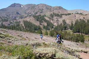 Hikers on the Pacific Crest Trail
