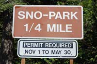 Photo of Sno-Park sign