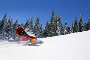 Photo of snowmobile