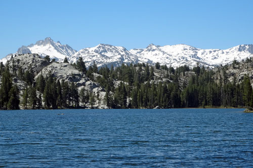 photo of the Fremont Lake and Tower Peak in the Hoover Wilderness, CA